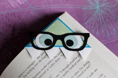 Nerdy Monster Bookmark. I really do love this idea!