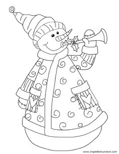 Variety of super cute Christmas coloring sheets