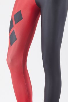 Harley Quinn Leggings, 'Tetris' Swimwear, and Comic Footwear From Black Milk Clothing Red And Black Leggings, Red Leggings, Leggings Fashion, Yoga Leggings, Print Leggings, Yoga Pants, Harley Quinn, Cool Tights, Seamless Underwear