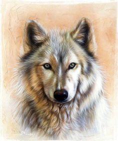 Wolf art..
