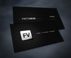 FVMBusinessCard 100 Refreshing Black & White Business Cards