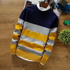 Mens Sweaters Wool Pullover Men Brand Clothing Casual O-Neck Sweater Men Dot Pattern Long Sleeve Cotton Shirt Male Mens Fashion Sweaters, Sweater Fashion, Men's Fashion, Fashion Guide, Fashion Rings, Fashion Ideas, Long Sweaters, Pullover Sweaters, Men Sweater