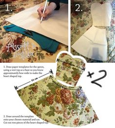 Sewing Aprons Vintage Tutorials Ideas For 2019 Retro Apron Patterns, Apron Pattern Free, Vintage Apron Pattern, Vintage Sewing Patterns, Dress Patterns, Diy Vintage, Aprons Vintage, Vintage Style, Sewing Hacks