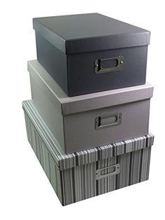 Grey Stripe Decorative Storage Cardboard Box Office Sets Of 3 Sainsburys http://www.amazon.co.uk/dp/B00QKO1IK6/ref=cm_sw_r_pi_dp_h.6Tub0VXAJBS