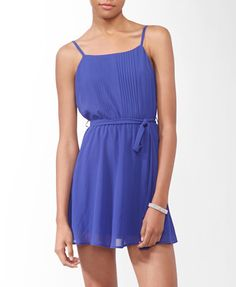Pintucked Spaghetti Strap Dress #forever21