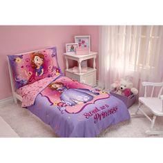 Disney Sofia the First 4-piece Toddler Bedding Set, Purple: Toddler : Walmart.com