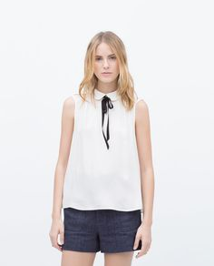 ZARA - WOMAN - TOP WITH BOW