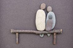 Las sencillas esculturas con piedras del camino de Sharon Nowlan