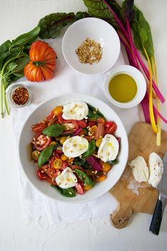 Easy Tomato and Chard Salad from @amsfoodstories