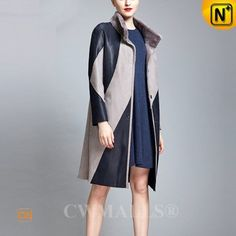 Reversible Leather Trench Coat CW652133 www.cwmalls.com