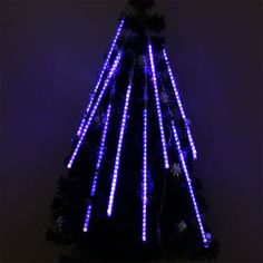 Perfect Holiday 50cm 8 Tubes 240 Leds Shower Meteor Rain Light Tube Christmas Holiday Decoration Lights Blue Color ** See this great product. (This is an affiliate link) #ChristmasSeasonalLighting