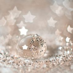 Silver Stars and Silver Glitter in a Droplet