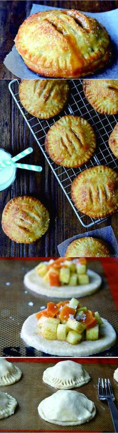 Salted Caramel Apple Hand Pies - apple, caramel, cinnamon, dessert, pie, recipes