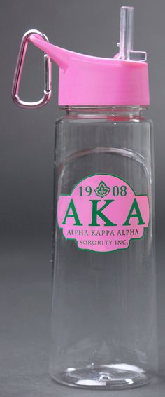 Hey, I found this really awesome Etsy listing at https://www.etsy.com/listing/185288902/alpha-kappa-alpha-water-bottle