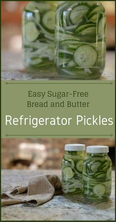 Easy Sugar-Free Bread and Butter Refrigerator Pickles – Try my super easy and fast recipe for bread and butter refrigerator pickles that also uses a sweetener that does not affect your blood sugar and still tastes good. Bread N Butter Pickle Recipe, Bread & Butter Pickles, Sugar Free Bread And Butter Pickle Recipe, Sugar Free Relish Recipe, Sweet Refrigerator Pickles, Sweet Pickles, Refrigerator Pickle Recipes, Super Simple, Burger Toppings
