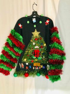 Matching Ugly Christmas Sweaters, Christmas Sweater With Lights, Best Ugly Christmas Sweater, Xmas Sweaters, Couples Christmas Sweaters, Ugly Sweater Contest, Pulls, Diy For Kids, Festive
