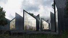 Moduu House, Antony Gibbon Designs, prefab housing, charred wood, timber cladding, modular design, green architecture, floor-to-ceiling windows
