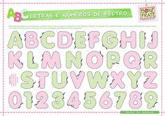 Letras e Números de Feltro (PAP com molde)   Flickr: Intercambio de fotos