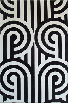 Florence Broadhurst 'Turnabouts' fabric wall art in black and white Space Illustration, Illustrations, Textures Patterns, Print Patterns, Pattern Print, Florence Broadhurst, Australian Painters, Fabric Wall Art, Inspiration Art