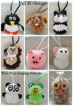Articoli simili a Keyring bagcharm animal dog hedgehog pig mouse panda frog owl penguin chick ladybird pompom baby shower gift childrens party bag gift su Etsy Valentine Crafts, Easter Crafts, Kids Crafts, Diy And Crafts, Craft Projects, Arts And Crafts, Preschool Crafts, Pom Pom Baby, Pom Poms