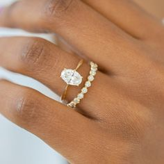 Moissanite engagement ring set Vintage Art deco engagement ring Women White gold Unique Alternative Diamond Wedding Bridal Anniversary gift All our diamonds are natural and not clarity enhanced or treated in anyway. We only use conflict-free diamond Engagement Ring Rose Gold, Dream Engagement Rings, Engagement Ring Settings, Diamond Wedding Rings, Bridal Rings, Vintage Engagement Rings, Wedding Gold, Halo Engagement, Wedding Vintage