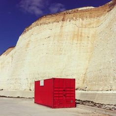 Lonely Red Shipping Container