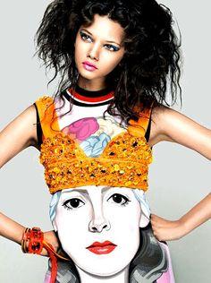 she-loves-fashion:  Marina Nery by Takaki Kumada for Elle Japan March 2014