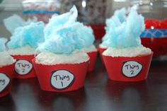 Dr. Suess cupcakes.  They would be so cute so Dr. Suess' Birthday.