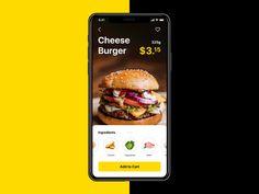 burger app ui animation tubik