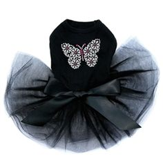Silver Nailhead Butterflies Tutu Dress- Three Colors