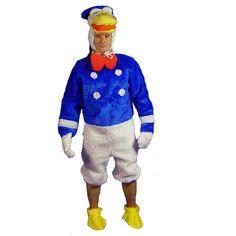 Donald Duck code produit : 952-195 6 pièces : Combinaison, 2 Gants, 2 Pieds et Tête.Taille(s) : Unique.