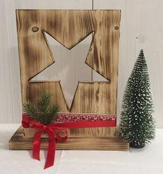 Weihnachtsdeko - Weihnachten - Bauholz - Weihnachtsstern - geflammt - ein Designerstück von Hexerei bei DaWanda