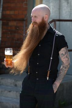This guy took growing a beard to the absolute extreme.