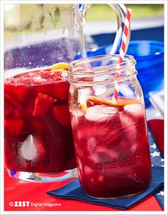 Summer Berry Sangria - serve in mason jars at a summer wedding
