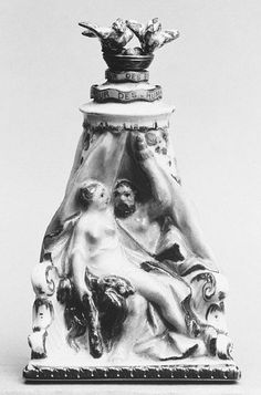 Bottle, Scent.  Meissen Manufactory  (German, 1710–present)  Date: ca. 1770 Culture: German (Meissen) Dimensions: H. 3 1/4 in. (8.3 cm.) Classification: Ceramics
