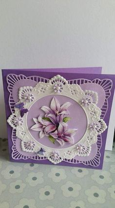 30 Ideas for vintage cards handmade embellishments Fancy Fold Cards, Folded Cards, Spellbinders Cards, Shaped Cards, Friendship Cards, 3d Cards, Marianne Design, Heartfelt Creations, Pretty Cards