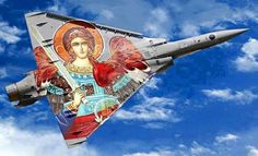 Archanioł Gabriel na Greckim Mirage Military Jets, Military Aircraft, Air Fighter, Fighter Jets, Photo Avion, Hellenic Air Force, Dassault Aviation, Aircraft Painting, Aircraft Photos