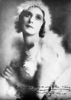 Anna Pavlova in costume for the Dying Swan, Buenos Aires, ca 1928, by