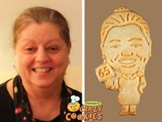 For the tastiest and most creative part of a 65th birthday party, order Parker's Crazy Cookies of the birthday girl. They are super fun as party favors and are a clever part of the dessert buffet.