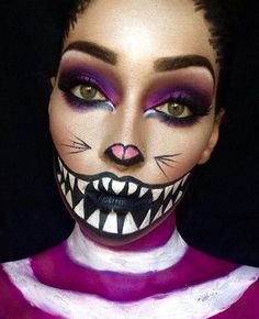 VAMPFANGS.COM   Cheshire Cat look, with amazing full painted smile    Musely