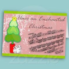 Christmas Tree and Music Card