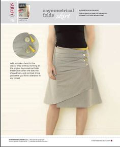 Asymmetrical Folds Skirt  free pattern at http://www.sewdaily.com/media/p/1395.aspx