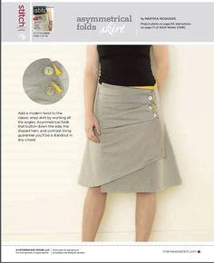Asymmetrical Folds Skirt  free pattern at http://www.sewdaily.com/media/p/1395.aspx