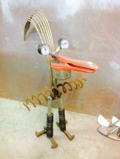 Metal Yard Art, Metal Art, Garden Deco, Garden Art, Potato Ricer, Bottle Trees, Junk Art, Metal Sculptures, Recycled Art