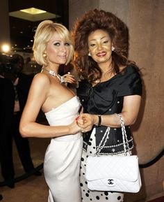 on this picture we have Mrs Chantal Biya the president wife and the actress Paris Hilton Chantal Biya, Presidents Wives, Belle Dress, Paris Hilton, Special Occasion Dresses, African Fashion, Christian Dior, Actresses, Lady