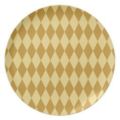 Harlequin Diamond Pattern Dinner Plates