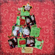 Christmas Tree Scrapbook Layout
