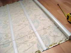 custom roman shades are EXPEN-SIVE! Here's what momma's gonna do for the french doors and possibly the bay window...