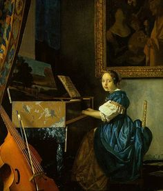 A Young Woman Seated At A Virginal 1670  National Gallery in London  Johannes Vermeer