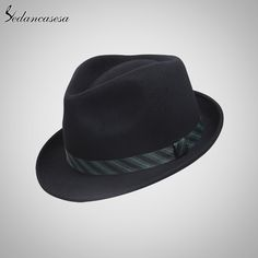 00399ddc4a086 Men Fedora Hat 100% Australian Wool Material Trilby Hats for Male Formal Hat  Wool Felt